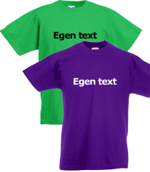 T-shirt jr egen text