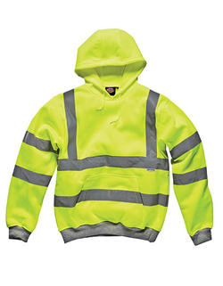Hi-Vis Safety Hooded Sweatshirt