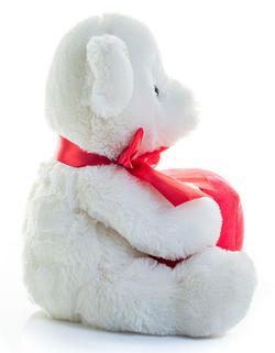 Björn med hjärta / present