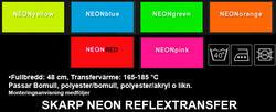 Siffror/Bokstäver SKARP NEON REFLEX