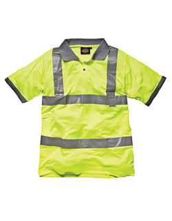 HiVis Arbets säker polo pike Class 2